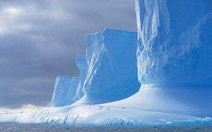 Iceberg shaped by melting, Drake Passage, Palmer Peninsula, Anta